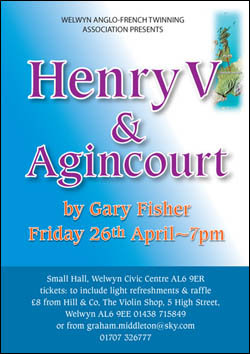 Poster for Talk on Henry V and Agincourt