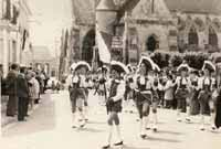 Majorettes at Welwyn Anglo-French Twinning Inaguration 1973